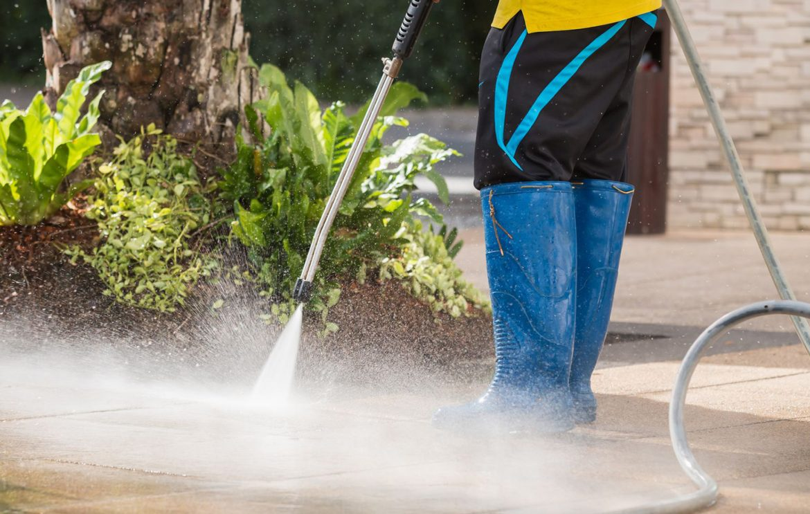 Pressure Washing Clothes in Muddy Areas